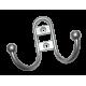 Крючок-вешалка №13 полимер хромэффект г.Кунгур (100 шт.)
